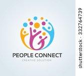 People connect logo,communication logo,family logo,vector logo template | Shutterstock vector #332764739