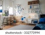 small blue studio for creative... | Shutterstock . vector #332773994
