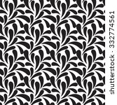vector floral design. peacock... | Shutterstock .eps vector #332774561