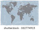 vintage world map.old world map ... | Shutterstock .eps vector #332774915