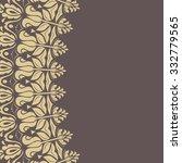 oriental vector abstract frame... | Shutterstock .eps vector #332779565