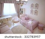 Cute Girl Bedroom With Soft...