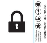 padlock icon  vector... | Shutterstock .eps vector #332786651