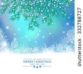 christmas vector background.... | Shutterstock .eps vector #332788727