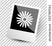 camomile. photoframe. vector... | Shutterstock .eps vector #332789561