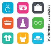 accessories  clothes icons.... | Shutterstock .eps vector #332802839