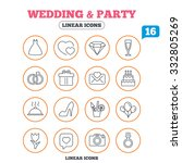 wedding and party icons. dress  ... | Shutterstock .eps vector #332805269