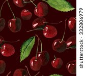 cherry seamless background | Shutterstock . vector #332806979