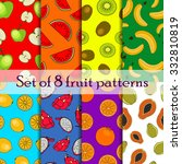 set of seamless fruit and berry ... | Shutterstock .eps vector #332810819