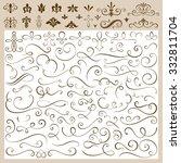 set of calligraphic design... | Shutterstock .eps vector #332811704