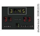 black digital scoreboard with... | Shutterstock . vector #332812151