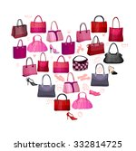heart made of woman's bags and... | Shutterstock .eps vector #332814725