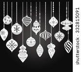 chalkboard christmas ornaments...