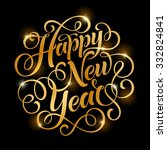 vector golden text on black... | Shutterstock .eps vector #332824841