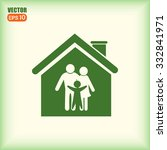 family in home icon | Shutterstock .eps vector #332841971