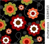 repeat floral background | Shutterstock .eps vector #33284515