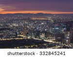 seoul city   south korea | Shutterstock . vector #332845241