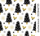 christmas pattern with tree ... | Shutterstock .eps vector #332846735