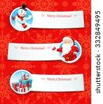christmas banners. design for... | Shutterstock .eps vector #332849495