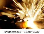 macro shot of sparkler   Shutterstock . vector #332849639