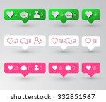 follower  heart and comment... | Shutterstock .eps vector #332851967
