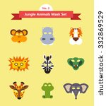 Animal Mask Set  Jungle Animal...