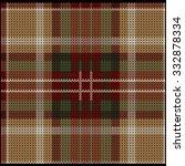 Knitted Plaid Tartan Pattern