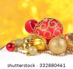 golden and red christmas... | Shutterstock . vector #332880461