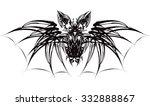 black bat | Shutterstock .eps vector #332888867