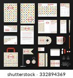 corporate identity template set.... | Shutterstock .eps vector #332894369