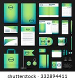 corporate identity template set.... | Shutterstock .eps vector #332894411