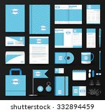 corporate identity template set.... | Shutterstock .eps vector #332894459
