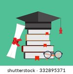 graduation cap and diploma... | Shutterstock .eps vector #332895371