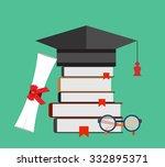 graduation cap and diploma...   Shutterstock .eps vector #332895371