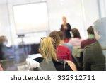 speaker giving a talk at...   Shutterstock . vector #332912711