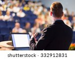 speaker at business conference... | Shutterstock . vector #332912831