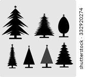 christmas trees    Shutterstock .eps vector #332920274
