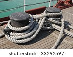 Sea Knot On A Ship Deck