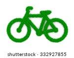 grass green bike symbol shape... | Shutterstock . vector #332927855