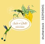 vintage save the date... | Shutterstock .eps vector #332934041