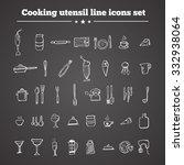 kitchen utensil icons. line... | Shutterstock .eps vector #332938064
