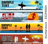 tropical beach web banner... | Shutterstock .eps vector #33294004