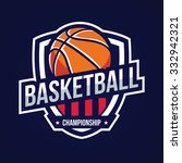 basketball logo  american logo... | Shutterstock .eps vector #332942321