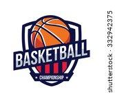 basketball logo  american logo... | Shutterstock .eps vector #332942375