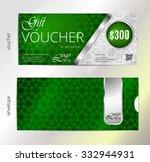 voucher  green gift certificate ... | Shutterstock .eps vector #332944931