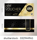 voucher  gift luxury... | Shutterstock .eps vector #332944961