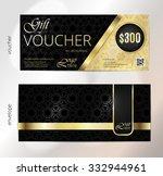 voucher  gift luxury... | Shutterstock .eps vector #332944961