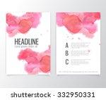 brochure flyer design. vector... | Shutterstock .eps vector #332950331