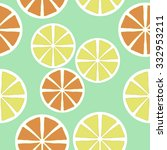 seamless    pattern  of citrus...   Shutterstock .eps vector #332953211