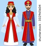 animation arab family in...   Shutterstock .eps vector #332965604